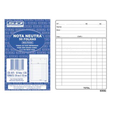 Nota Neutra SD 1/36 50 Folhas 68759