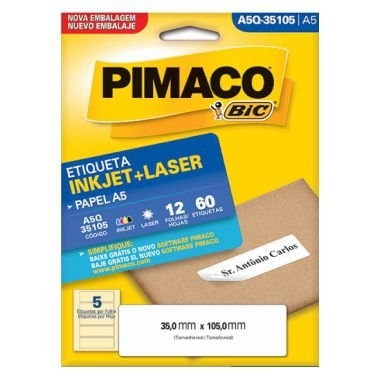 Etiqueta A5 Q35105 Pimaco