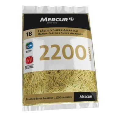 Elástico Mercur Super Amarelo N°18 Fino 1KG 2200und