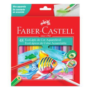 Lápis De Cor Faber Castell C/48 Cores Aquarelável