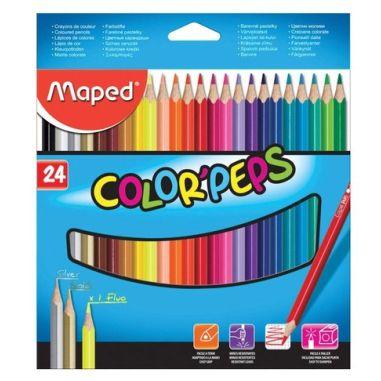 Lápis De Cor Maped Color Peps 24 Cores Triangular
