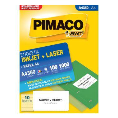 Etiqueta Pimaco A4 A4350 (10 Etiquetas P/Folha) C/100 UND
