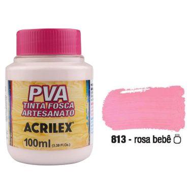 Tinta Plastica PVA Rosa Bebê 813 100Ml