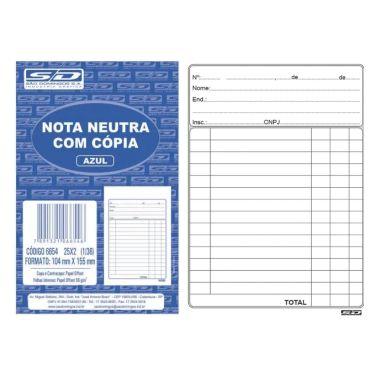 Nota Neutra com Cópia 1/32 40X2 SD 68635
