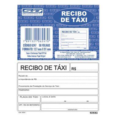 Recibo de Táxi 50 Folhas SD 62471