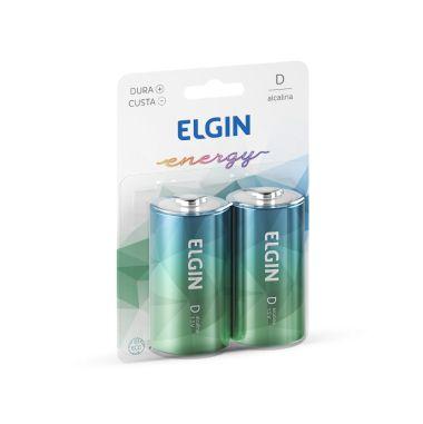 Pilha D Elgin Energy C/2 Alcalina
