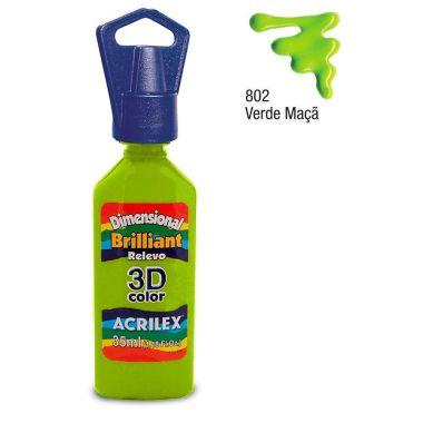 Tinta Dimensional Brilhante Verde Maçã 802