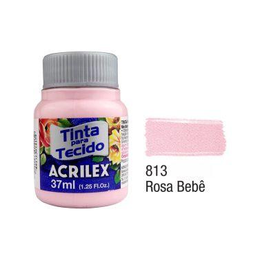 Tinta P/Tecido Fosca Acrilex 37ML Rosa Bebê 813