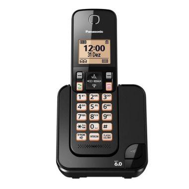 Telefone S/Fio Panasonic  Com Identificador TGC350Lb Preto