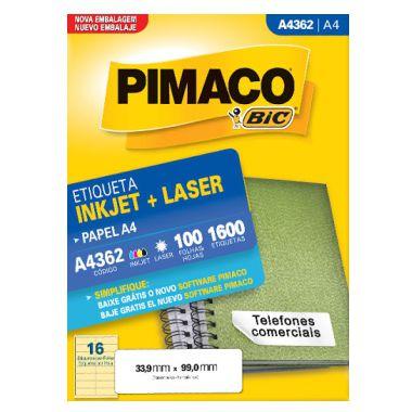 Etiqueta Pimaco C/100 A4362 (16) A4