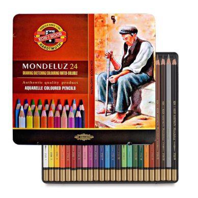Lápis De Cor Koh-I-Noor Mondeluz 24 Cores Aquarelável