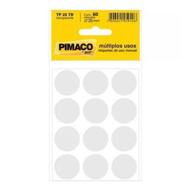 Etiqueta Pimaco Redonda TP25 Transparente