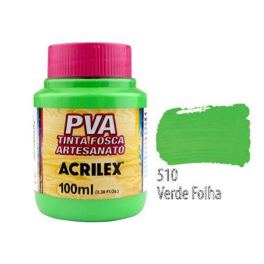 Tinta Plastica PVA Verde Folha 510 100Ml