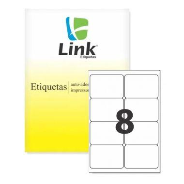 Etiqueta Link A4 9005 (8 Etiquetas P/Folha) C/100 UND