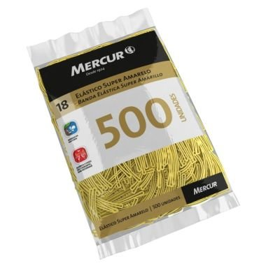 Elástico Mercur Super Amarelo N°18 Fino 230G 500 UND