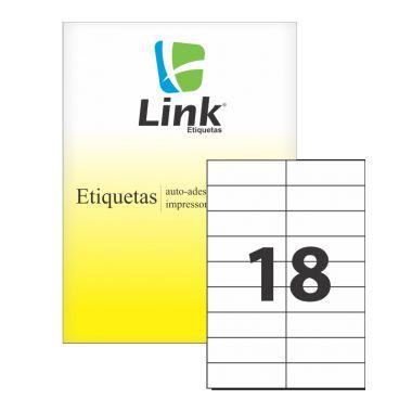 Etiqueta Link A4 9010 (18 Etiquetas P/Folha) C/100 UND