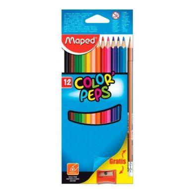 Lápis De Cor Maped Color Peps 12 Cores Kit Triangular