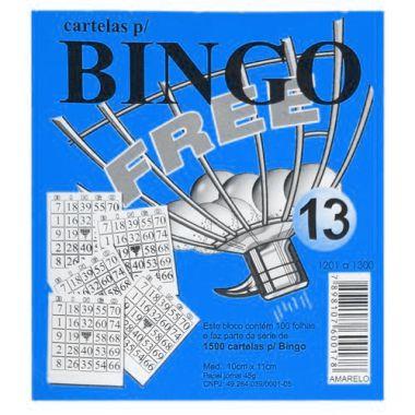 Bloco de Bingo Free Azul