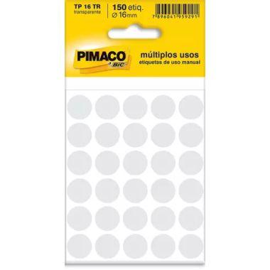 Etiqueta Pimaco Redonda TP16 Transparente