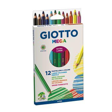 Lápis De Cor Giotto Mega C/12 Cores Jumbo