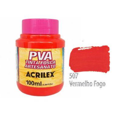 Tinta Plastica PVA Vermelho Fogo 507 100Ml