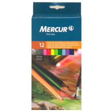 Lápis De Cor Mercur 12 Cores Aquarelável