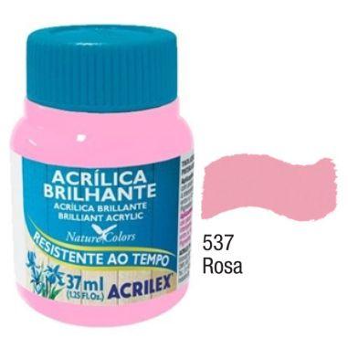 Tinta Acrílica Brilhante Acrilex 37ML Rosa 537