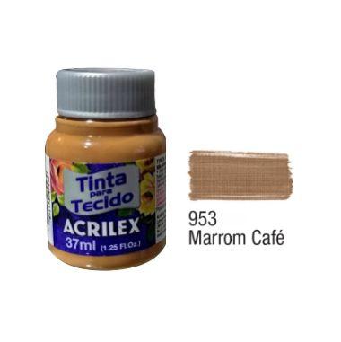 Tinta P/Tecido Fosca Acrilex 37ML Marrom Café 953