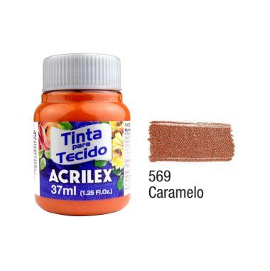 Tinta P/Tecido Fosca Acrilex 37ML Caramelo 569