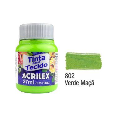 Tinta P/Tecido Fosca Acrilex 37ML Verde Maçã 802