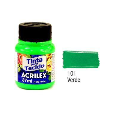 Tinta P/Tecido Neon Acrilex 37ML Verde 101