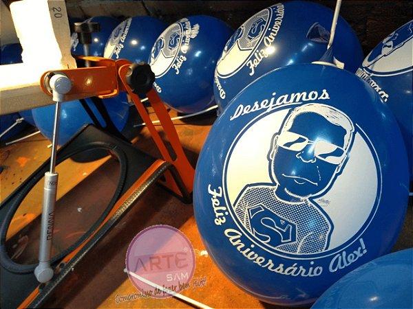 Máquina de impressão para serigrafia em balões