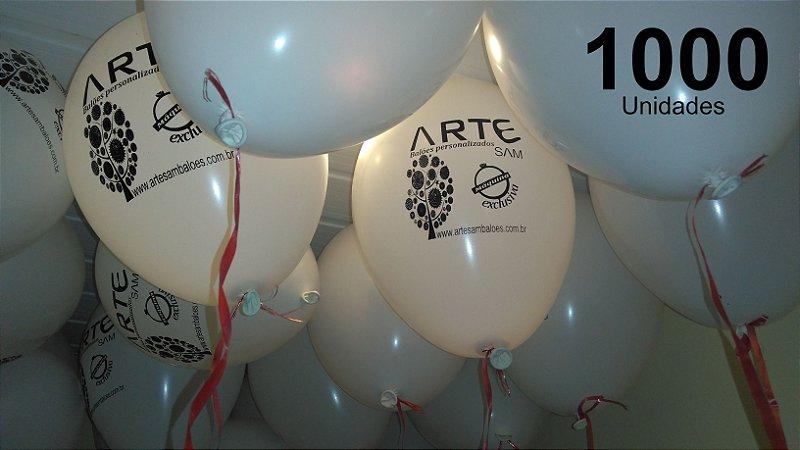 1000 Balões em latex 9 polegadas personalizados com o layout que desejar. Ideal para incentivar visitações semanais em sua loja
