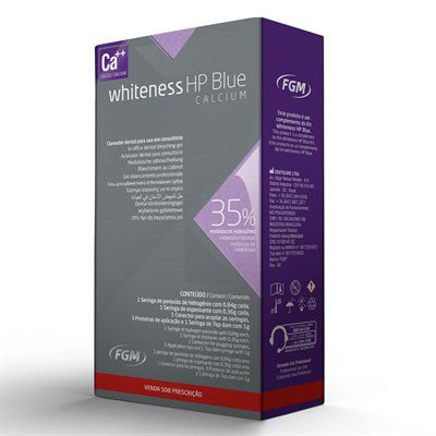 CLAREADOR WHITENESS HP BLUE 35% UNITARIO COM TOP DAM - FGM