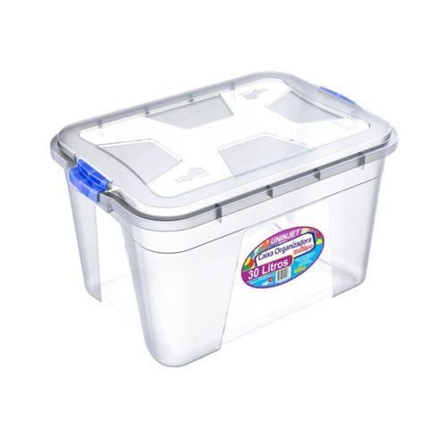 Caixa Organizadora Transparente 30 Litros Uninjet