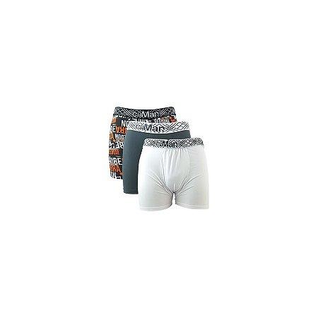 Kit 3 Cuecas Boxer Cotton CiaMan - Sortidas