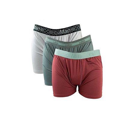 Kit 3 Cuecas Boxer Cotton Plus Size Ciaman