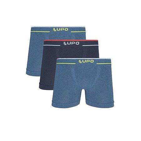 Kit 3 Cuecas Boxer Plus Size Lupo