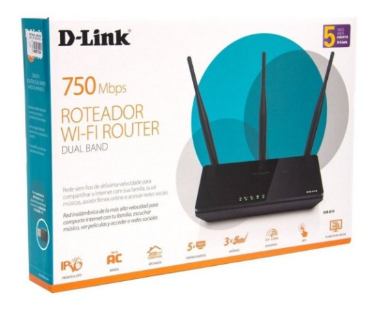 Roteador D Link  750mbps DIR-819 wireless 4 portas Dual Band AC CX 1 UN