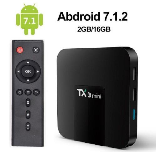 MXQ TX3 Smart TV Android 7.1 Ultra HD Preto