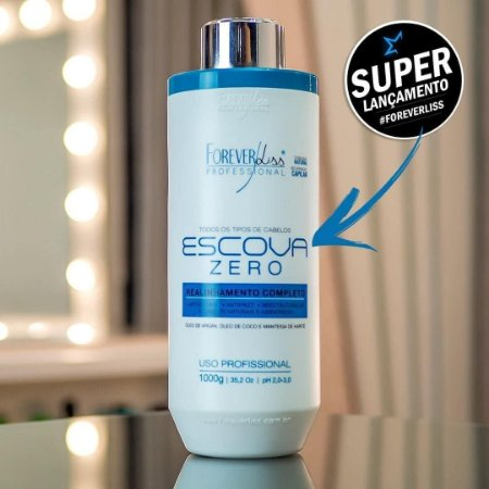 Forever Liss Escova Progressiva Zero 1000g/ Com Ácido Hialurônico e 0% de formol.