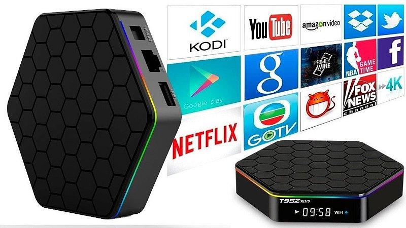 Tvbox T95Z Plus Android 9.1 Dual WiFi 4K Caixa de TV inteligente Media Player com 4GB RAM 64GB ROM