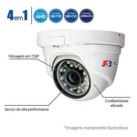 Câmera Dome Multi HD 720p - 25 Metros, Lente 2,8mm, FS-PDF1M FocusBras 4 em 1 - HDTVI, HDCVI, AHD, Analógico