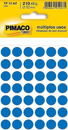 Etiqueta cartela color TP-12 azul Pimaco c/210