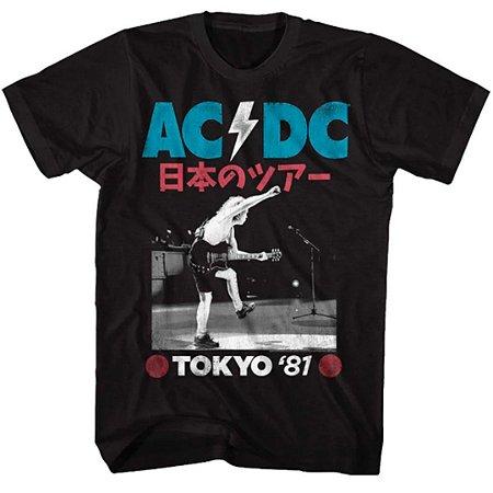 Camiseta Básica Banda Rock AC/DC Tokyo '81