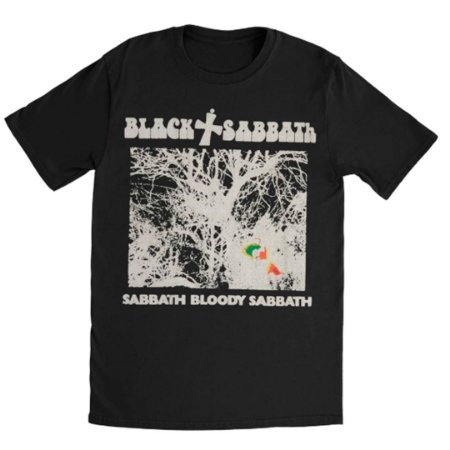 Camiseta Básica Banda Heavy Metal Black Sabbath Sabbath Bloody Sabbath