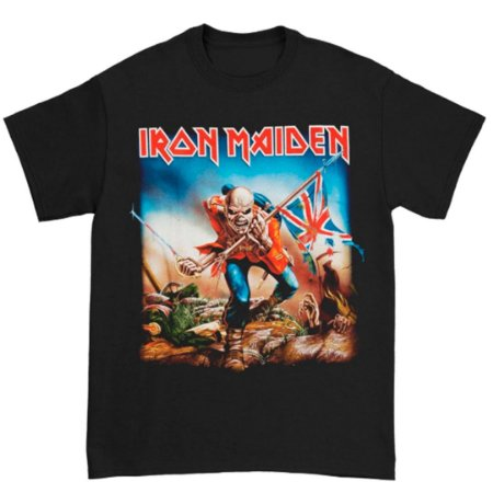 Camiseta Básica Banda Heavy Metal Iron Maiden Trooper