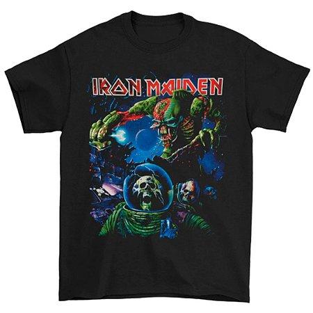 Camiseta Básica Banda Heavy Metal Iron Maiden Final Frontier 2010 Tour