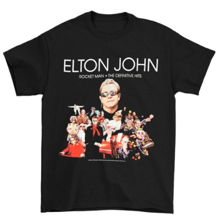 Camiseta Básica Cantor Elton John Rocket Man 2009 Tour