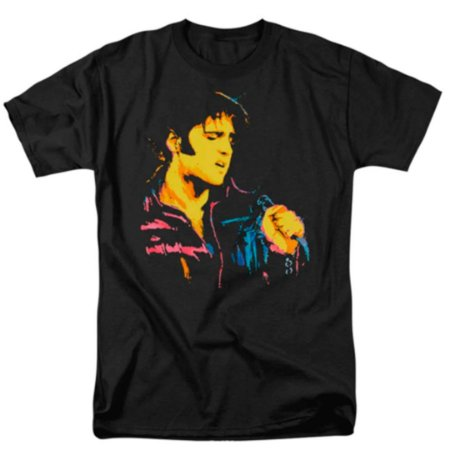 Camiseta Básica Cantor Elvis Presley Neon